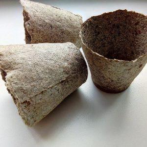 стаканчик торфяний для розсади, розмір 6х6 см
