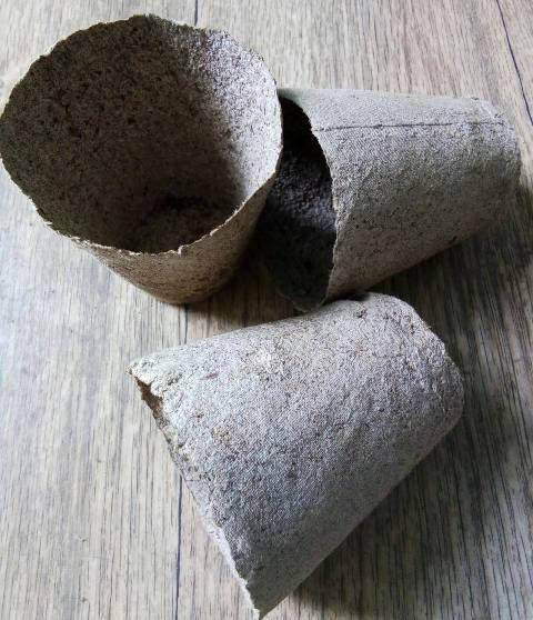 торфяний стаканчик для розсади, 8 х 8 см