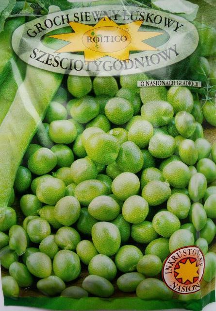 горох овочевий шеститижневий, польське насіння